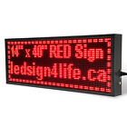 40&quot;X14&quot; LED SIGN PROGRAMMABLE SCROLLING FOR SEMI OUTDOOR AND WINDOW <br/> Perfect Size, Very Attractive, Against Strong Sunlight