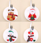 Christmas Cutlery Silverware Holder Folk Bag Santa Snowman Table Dinner Decor