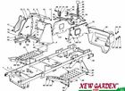 Exploded view frame mower lawn 38 5/8in XD140 CASTELGARDEN STIGA parts 2002-13