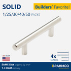 SOLID Stainless Steel T bar Kitchen Cabinet Door Handles Drawer Pulls Knobs Lot