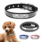 Reflective Personalized Small Dog Collars PU Leather for Pet Puppy Cat Chihuahua