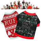 Black Dog Apparel Xmas Themed Puppy Small Costume For Pet Sweater Festival