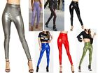 SALE Women Lady Vinyl Pvc Wet Look Shinny Elasticated Leggings Jogger PU Pants