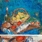 "32W""x24H"" NATURE MORTE DEAD STILL LIFE by MARC CHAGALL -FRUITS CHOICES of CANVAS"