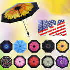 3Folding 50+Anti-UV Windproof Rain Sun Protection Flower Parasols Umbrella