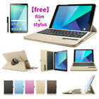 Wireless Removable Bluetooth Keyboard Leather Case For Samsung Tablet Free Gift