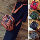 Convertible Real Leather Backpack Rucksack Daypack Travel Bag Purse Satchel