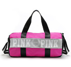 Victoria's Secret PINK Double Strap Duffle Gym Bag With Logo Black Grey or Pink