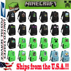 Minecraft Backpack Equip Bag Book Creeper Sports Rucksack Waterproof Boys Kids