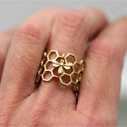 Cute Women Honeycomb Ring tiny bee Adjustable hexagon Finger ring nature jewelry