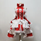 Christmas Weihnachten Cosplay Costume Abend Kleid Prom dress Lolita Rot Anime
