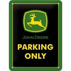 JOHN DEERE PARKING ONLY EMBOSSED HEAVY DUTY METAL PLAQUE FARM TRACTOR MACHINERY