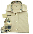 $275 BURBERRY London Beige Casual Dress Mens Shirt NEW COLLECTION
