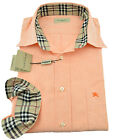 $275 BURBERRY London Orange Casual Dress Mens Shirt NEW COLLECTION