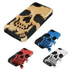 Kyпить Skull 2 in1 case for iPhone 5 6 6s 6plus 7 7 plus Metal Hard Gothic Hybrid Cover на еВаy.соm