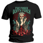 Five Finger Death Punch T Shirt Lady Muerta Official Licensed Black Mens NEW