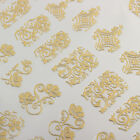 108 pcs 3D Flower Nail Art Manicure Design Tips Stickers Decals Gold Silver Red