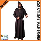 Mens Monk Friar Tuck Priest Robes Halloween Fancy Dress Costume All Sizes