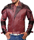 Star Lord Jacket Peter Quill Guardians of the Galaxy 2 Red Leather Costume Coat