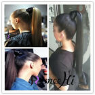 UK 100% Real New Clip In Remy human Hair Extension PonyTail Wrap Around Ponytail