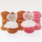 US 4PC Pet Dog Winter Warm Boots Puppy Anti-Slip Snow Booties Shoes Protective