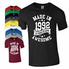 30th Birthday Gift T-Shirt Made in 1988 Being Awesome Age 30 Years Mens Ladies