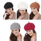 Ladies Wool Mix Silver Studded Beret Hat Wool French Beret Winter Autumn Women