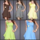 One Shoulder Bridesmaid Dress Knee Length Party Gowns Homecoming Dress In Store