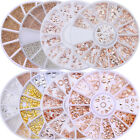 Nail Studs Crafts Charms Rose Gold 3D Nail Art Manicure Decoration in Wheel DIY