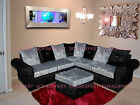 GLP CRUSHED VELVET FABRIC LIVERPOOL CORNER ENGLISH SOFA COUCH SETTEE L SHAPE