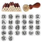 Vintage Sealing Wax Classic Initial Wax Seal Stamp Alphabet Letter 26 Wood XXF