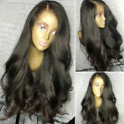 Glueless Virgin Human Hair Wigs Full Lace Front Wigs Pre Plucked With Baby Hairs