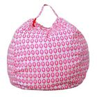 US Kid Stuffed Animal Toy Cotton Bean Bag Chair Storage Pouch Soft Stripe Fabric