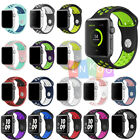 Replacement Silicone Wrist Bracelet Sport Band Strap For Apple Watch 38mm 42mm image