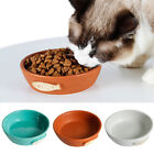 Pet Dog Cat Feeder Food Water Bowl Feeding Food Dispenser Ceramics 3 Colors