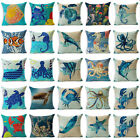 Ocean  Marine Animal Cotton Linen Throw pillow Case Sofa Cushion Cover Home Deco image