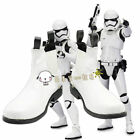 NEW !Star Wars The Force Awakens Stormtrooper White Short Cosplay Shoes Boots AA $45.59 USD
