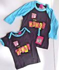 """""""P IS FOR PUNK"""" TODDLER Black T-Shirt Tee with Teal/Blue Trim NEW w/TAGS"""