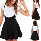 Women Lady Pleated Skirt High Waist Plain Skater Girls Short Mini Skirt Shorts