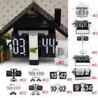 Retro Style Auto Flip Down Clock Metal Desk Clock Cafe Decorative Tabletop Clock