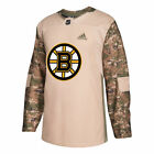 adidas Boston Bruins Camo Veterans Day Practice Jersey - NHL