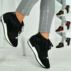 New Womens Trainers Lace Up Ladies Sneakers Running Shoes Size Uk 3-8