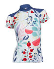 MIMO DESIGN BLOSSOMS Woman's Cycling Jersey Short Sleeve