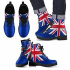 Rapport Union Jack Flag Red White And Blue Leather Boots