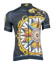 MIMO DESIGN NAUTICAL COMPASS Men's Cycling Jersey Short Sleeve