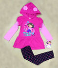 New Girls Toddler Kid's Dor a Hooded Top+Polka Dot Legging Sets Outfits 4T  6-6x