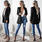 Fashion Women Ladies Long Sleeve Casual Business Suit Outwear Jacket Coat Tops
