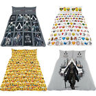 Reversible Duvet Cover Kids Double Bed Set Pillow Case Quilt Cover Bedding Creed