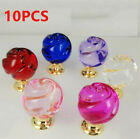 10pcs Multicolor Rose Crystal Ball Glass Pull Handle Cabinet Drawer Door Knob