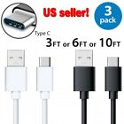 3X Samsung Galaxy S8 S8 Plus Note 8 A3 A5 A7 2017 Fast Charger USB Type-C Cable